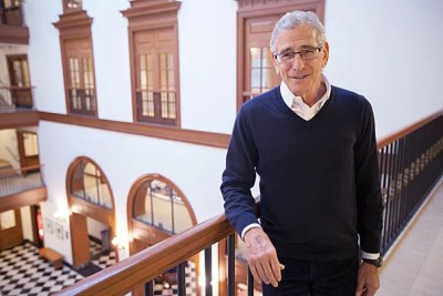 """""""We've actually increased our total spending on public education in the last 30 years by 100 percent in real dollars, and what we noticed is that there's some but very little correlation between high performance and more money,"""" said Allen Grossman, a senior fellow and retired M.B.A. Class of 1957 Professor of Management Practice at HBS, who led the project's education research."""