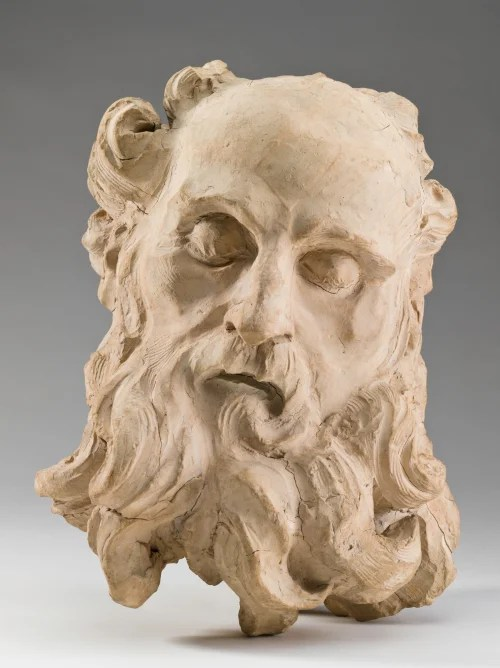 "Sculptor Gian Lorenzo Bernini's ""Head of Saint Jerome,"" c. 1661, part of the Fogg Museum's collection, is one of 13 terra cotta models on view in one of the museums' two winter garden galleries. Photo: Harvard Art Museums, © President and Fellows of Harvard College"