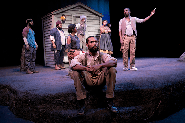 """""""Father Comes Home From the Wars (Parts 1, 2, & 3)"""" is a drama set during the Civil War (photos 1, 3) from playwright Suzan-Lori Parks (right, photo 2) and director Jo Bonney. Parks said the play """"touches on things that we are going through, both we of 2015 who are of African descent, and those of us who are not."""""""