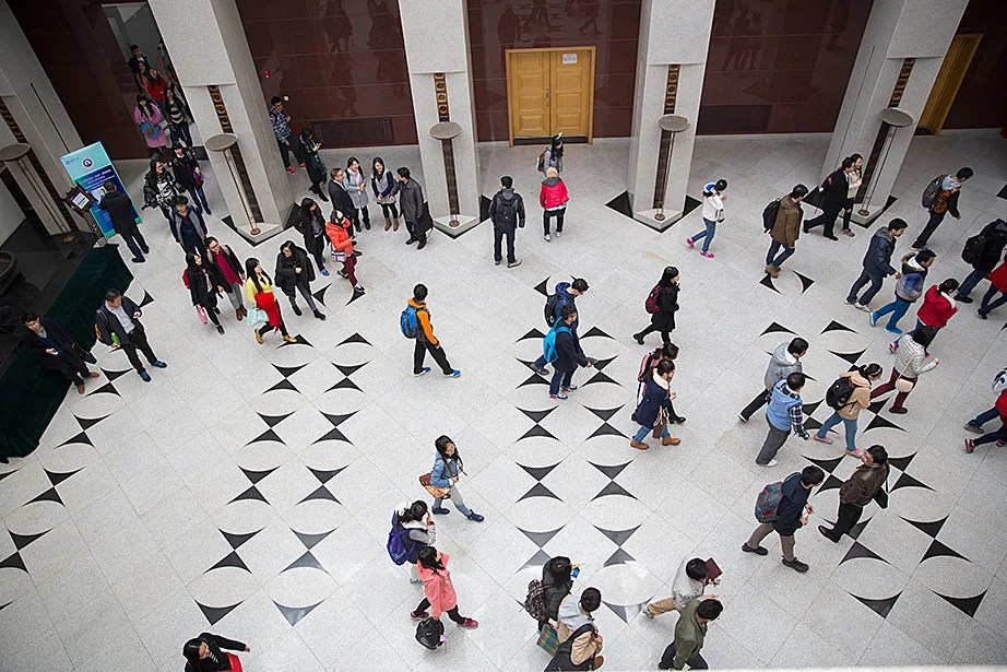 "More than 250 Tsinghua University students attend Drew Faust's Tsinghua Global Vision Lecture, ""Universities and the Challenge of Global Climate Change,"" at Tsinghua University."