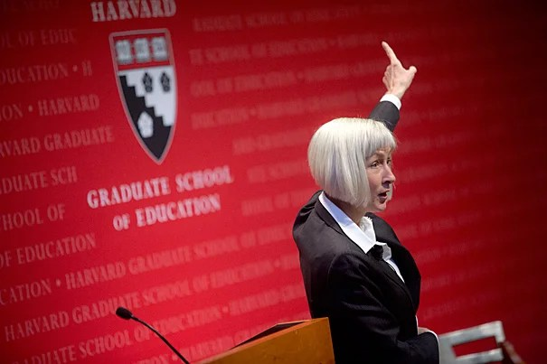 """EDUCAUSE President and CEO Diana Oblinger spoke on """"The Digital Ecosystem and Higher Education's Future"""" as part of the Askwith Forum series at the Harvard Graduate School of Education."""