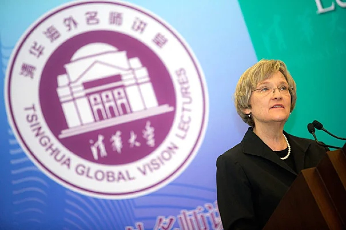 """President Drew Faust delivered """"Universities and the Challenge of Climate Change"""" as part of the Tsinghua Global Vision Lecture series. Her speech marked the culmination of a series of events in Beijing at which climate change was a central topic."""