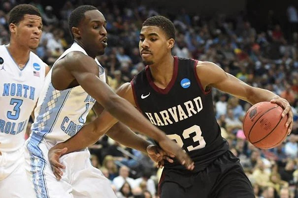 Harvard's Wesley Saunders contributed 26 points and five assists in Thursday night's game against North Carolina. The Tar Heels won, 67-65.