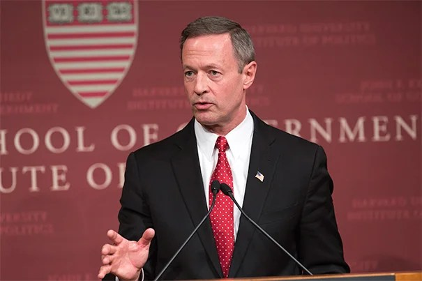 """The economy isn't money, the economy is people. It is the work, the imagination, the grit, the desire, the skill, the love of family, the creative capacity of every person that actually drives our economy and makes our country stronger,"" former Maryland Gov. Martin O'Malley told a Harvard Kennedy School audience on April 16."