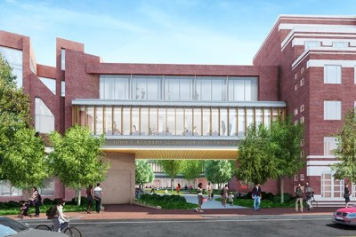 Harvard Kennedy School is planning a $125 million renovation. An exterior gateway is one of the two new entrances from Eliot Street that is being proposed in the design.