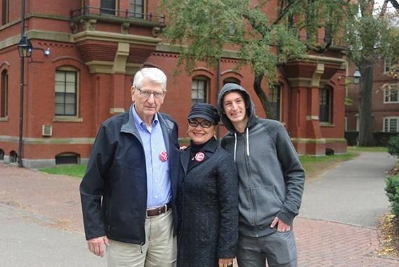 Bryan Family: Grandpa: Pat Bryan Grandma: Connie Bryan Grandon and Harvard Freshman: Cooper Bryan Photo by Matthew DeShaw