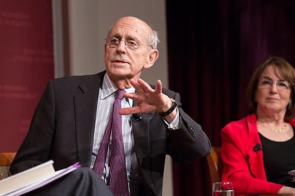 """I've never heard one judge in that room say something really mean, even in a joking way, about another. It doesn't happen. It's professional,"" Associate Supreme Court Justice Stephen Breyer told students during a talk at Harvard Kennedy School."