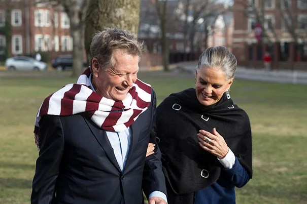 "Actors Ryan O'Neal and Ali MacGraw returned to Harvard to revisit the scene of their iconic movie ""Love Story,"" while promoting their latest roles in A.R. Gurney's ""Love Letters."""