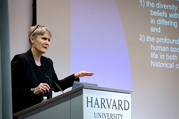 """""""Religious literacy is developing the ability to discern and analyze the fundamental intersections of religion and social, political, and cultural life,"""" said Harvard Divinity School's Diane Moore, speaking at the Harvard Ed Portal."""