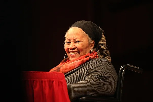 "Nobel Prize-winning Toni Morrison enjoyed a sustained standing ovation before beginning her first Charles Eliot Norton Lecture. Speaking from a wheelchair, she described her return to Harvard as ""comforting,"" then launched into the human tendency ""to separate and judge those not in our pact."""