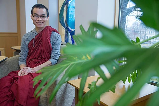 "Tajay Bongsa, a Buddhist monk, plans to explore the connections between social and economic justice. ""One of the things we learn at HDS is how much we can give back to society,"" he says.  ""Religion, in relation to entrepreneurship, is still an unexplored territory."""
