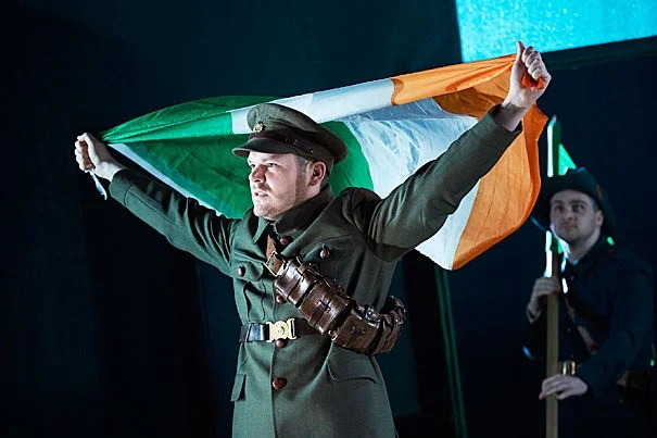 "Lloyd Cooney (from left) and Liam Heslin in the Abbey Theatre's production of ""The Plough and the Stars"" by Sean O'Casey."