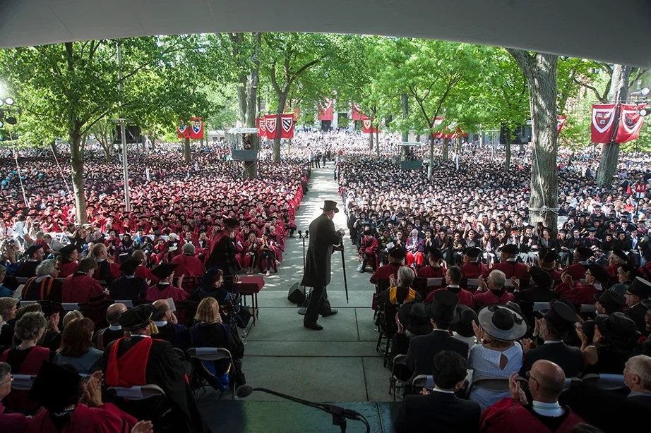 The sheriff of Middlesex County brings Commencement to order. Jon Chase/Harvard Staff Photographer
