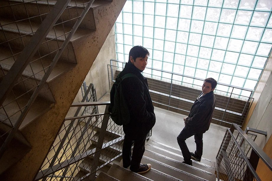 """My brother and I have always been very different, but the more insular environment and limited opportunities of our hometown prevented us from exploring our different pastimes and interests,"" says Alex Lee. ""At Harvard, I've been able to involve myself in the performing arts community while maintaining a strong friendship with Eli. Even though our interests are very different, we do our best to support each other — Eli comes to my improv shows, and I go to events at the Advocate and tune into his radio show!"" Kris Snibbe/Harvard Staff Photographer"