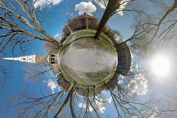 The series pairs extraordinary views of iconic campus spaces with student goodbyes.
