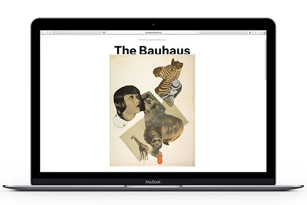 The landing page of The Bauhaus Special Collection, a new online resource launched by the Harvard Art Museums.