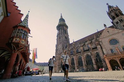 The gothic Freiburg Minster cathedral is possibly the most famous landmark in the city.