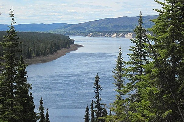 The Churchill River in Labrador, Canada, is the site of the upcoming Muskrat Falls hydroelectric facility. Credits: Prentiss Balcom/Harvard SEAS
