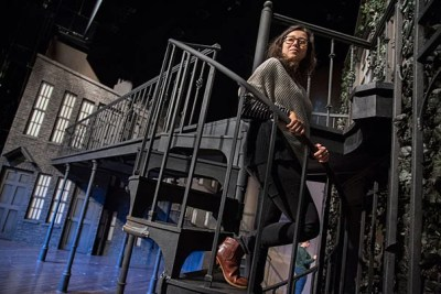 "Jen Schriever, lighting designer for the A.R.T. production ""Fingersmith,"" explained that with only one main set to work with, she and the design team had to get creative. ""This is one prime example of why lighting is so important,"" said Schriever."