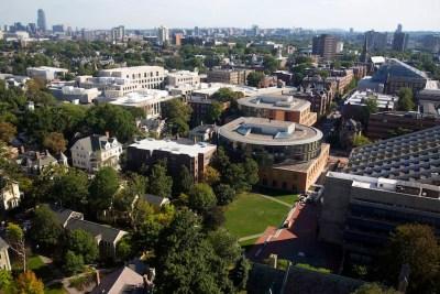 Skyline view of Boston and Cambridge