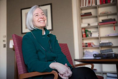 """""""The best part [of being dean] is working with extraordinary people at the School, from the library to my team to students to alumni. There are 37,000 HLS alumni around the world, and meeting them has been one of the most pleasant surprises,"""" said HLS Dean Martha Minow, who is stepping down after eight years at the helm."""