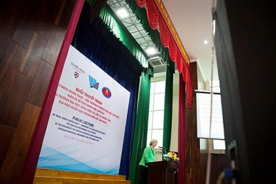 """I have wanted to make Vietnam into a place in my mind, not the name of a conflict that overtook my generation of young Americans, but a society and nation with all its complexity, its beauty, its history, its vibrancy, and its promise,"" said President Drew Faust during her address at Ho Chi Minh City University of Social Sciences and Humanities."