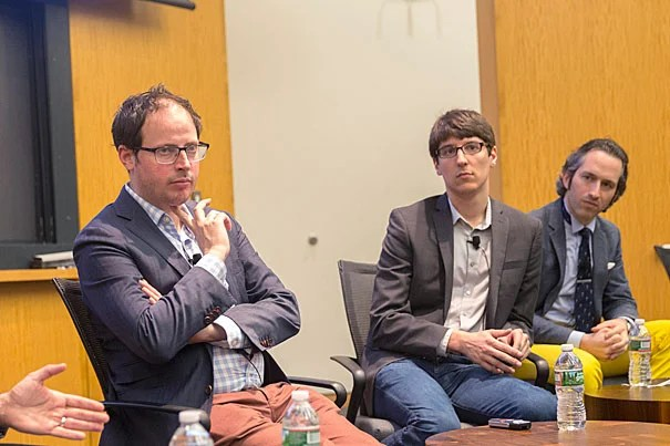 """Nate Silver (left), founder and editor-in-chief of FiveThirtyEight.com, believes that conventional wisdom — not polls — failed to predict the results of the 2016 Presidential Election. """"If you look at public opinion, people weren't actually all that confident in Clinton's chances. It was the media who were very confident in Clinton's chances."""""""
