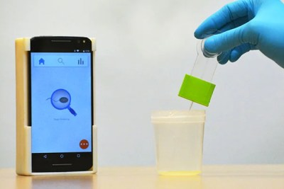 A smartphone-based semen analyzer can be used to test for male infertility. The 3-D printed setup costs less than $5 and can analyze most semen samples in fewer than 5 seconds.