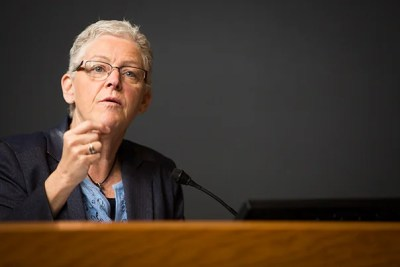"""Former EPA Administrator Gina McCarthy delivered the keynote address at the Climate Week symposium """"Human Health in a Changing Climate,"""" in which she joined a growing chorus of academics, scientists, and public servants urging scientists to raise their voices on climate change."""