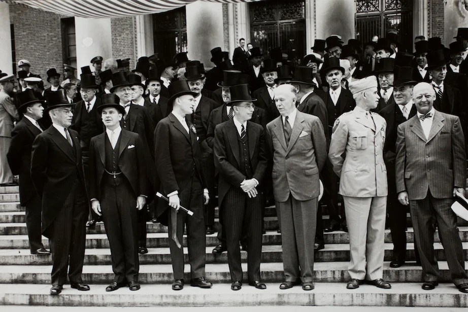 Marshall Plan 1947 Widener Library steps