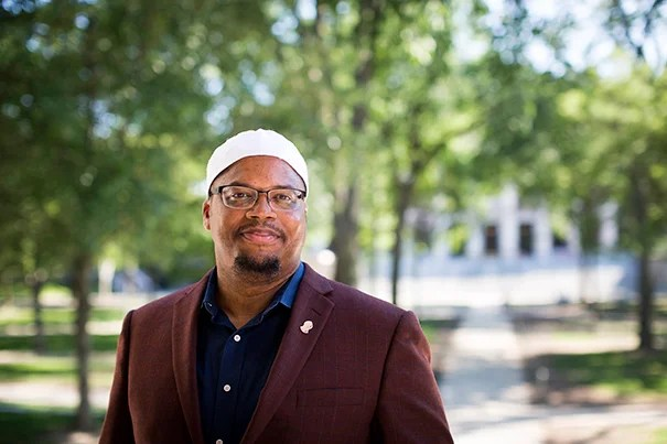 """These are challenging times that require us ... to [be] the best of who we are while remembering the divine in each other,"" says Harvard's newly appointed Muslim chaplain Khalil Abdur-Rashid"