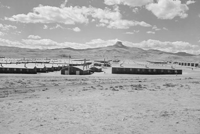 Thirty-five years after their release, Japanese-American internees placed in the poorest camp, Arkansas' Rohwer Relocation Center,  earned 17 percent less than those placed in more affluent regions, such as Heart Mountain, Wyo., (pictured).
