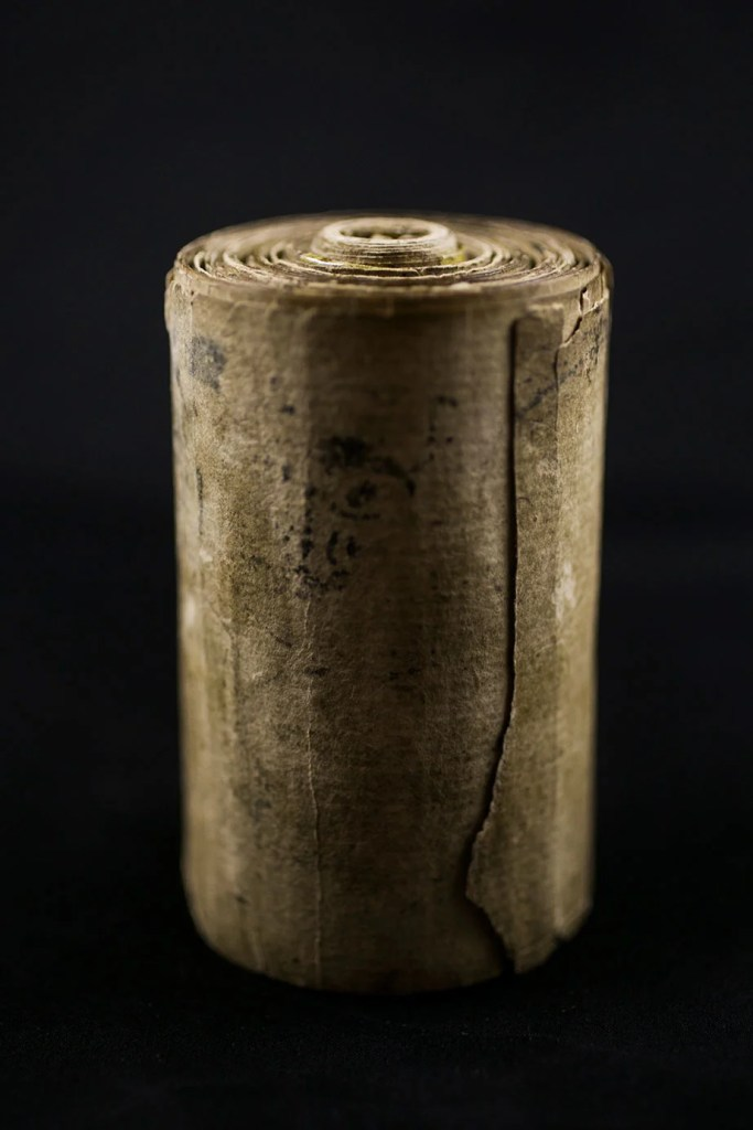 Armenian charm scroll from 1708.