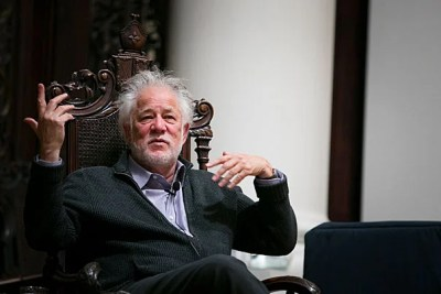 "Michael Ondaatje, author of ""The English Patient"" and other novels, read passages from his work and took questions on his creative process during a Harvard forum at Memorial Church."