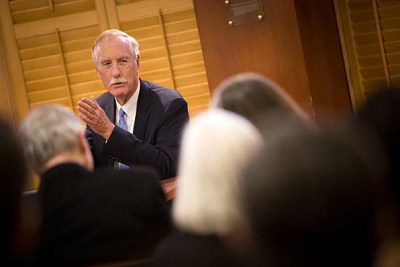 Sen. Angus King of Maine, who serves on the Senate Select Intelligence Committee, discussed the committee's progress in the investigation into Russian interference in the 2016 election.