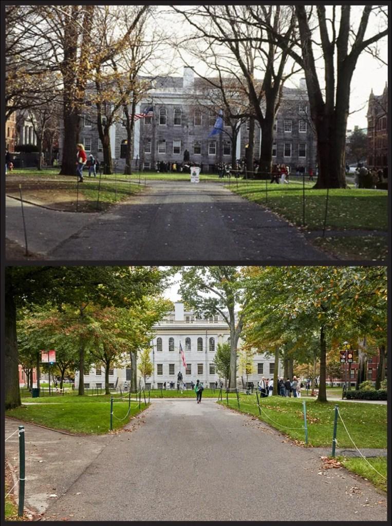 University Hall, 1990s vs. 2017