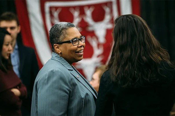 Currier House Faculty Dean Latanya Sweeney attends the ceremony