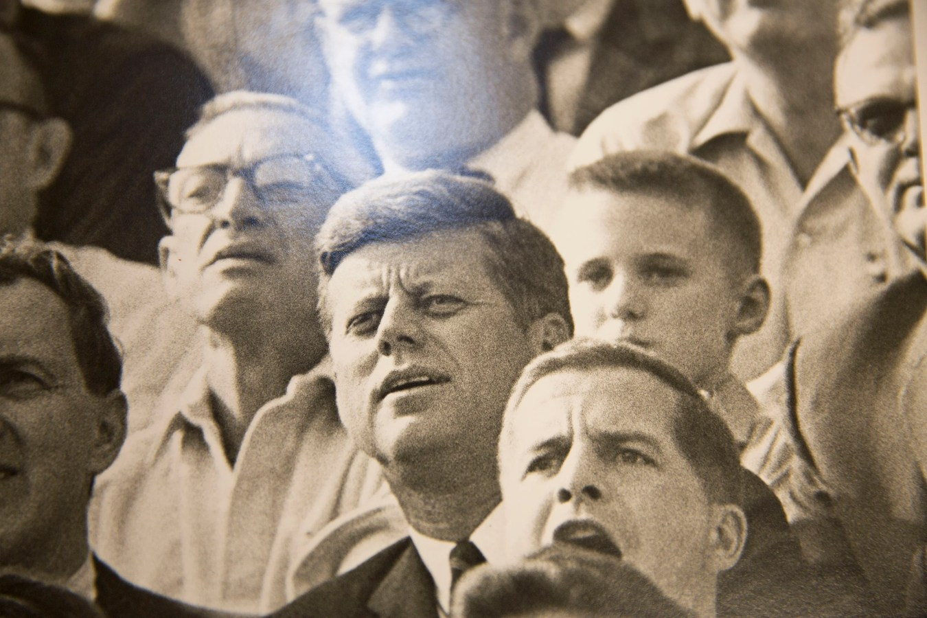 President Kennedy attends a Harvard football game in October 1963.
