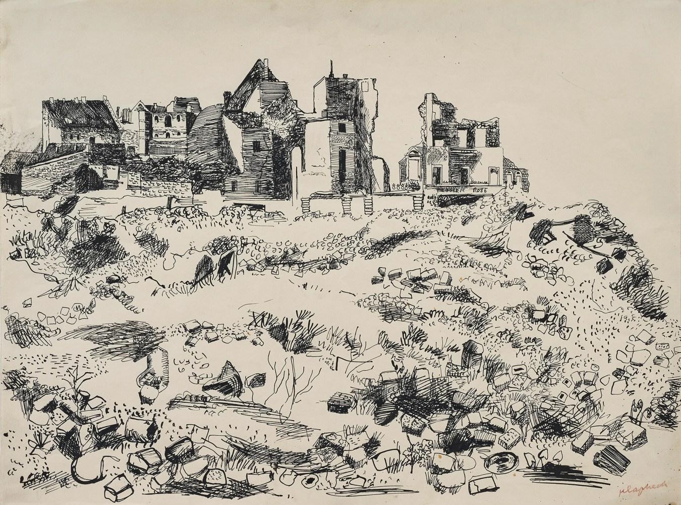"""Landscape with Ruins,"" Konrad Klapheck"