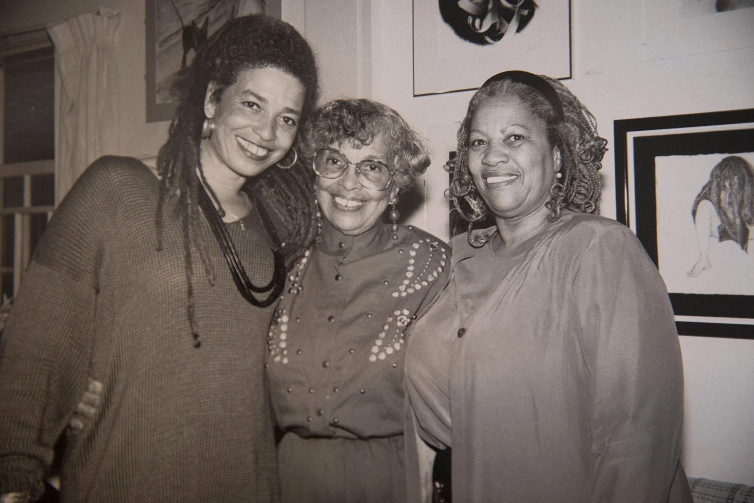 Angela Davis (from left), her mother, Sallye Davis and Toni Morrison.