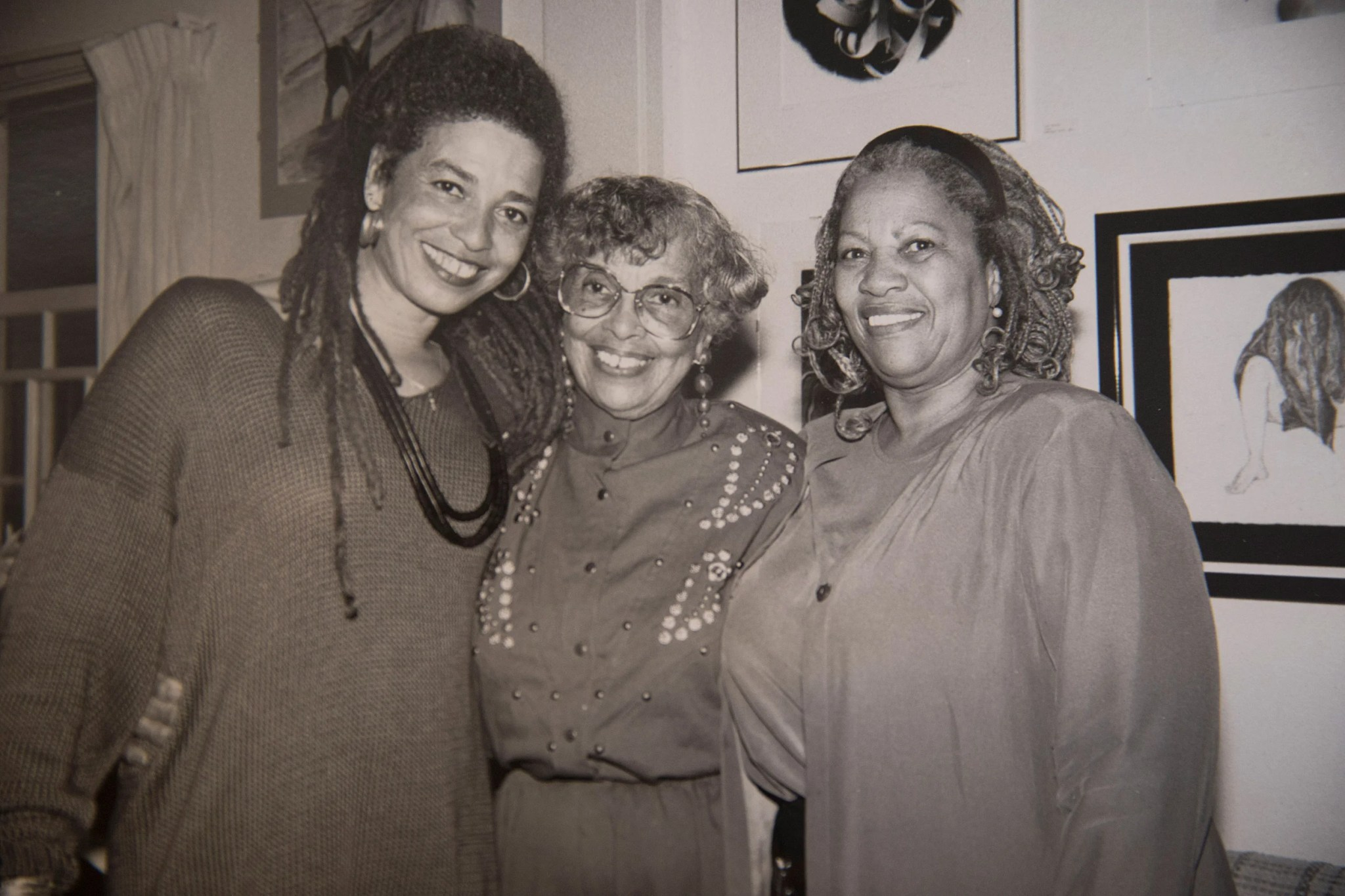 Angela Davis (from left), her mother, Sallye Davis and Toni Morrison.