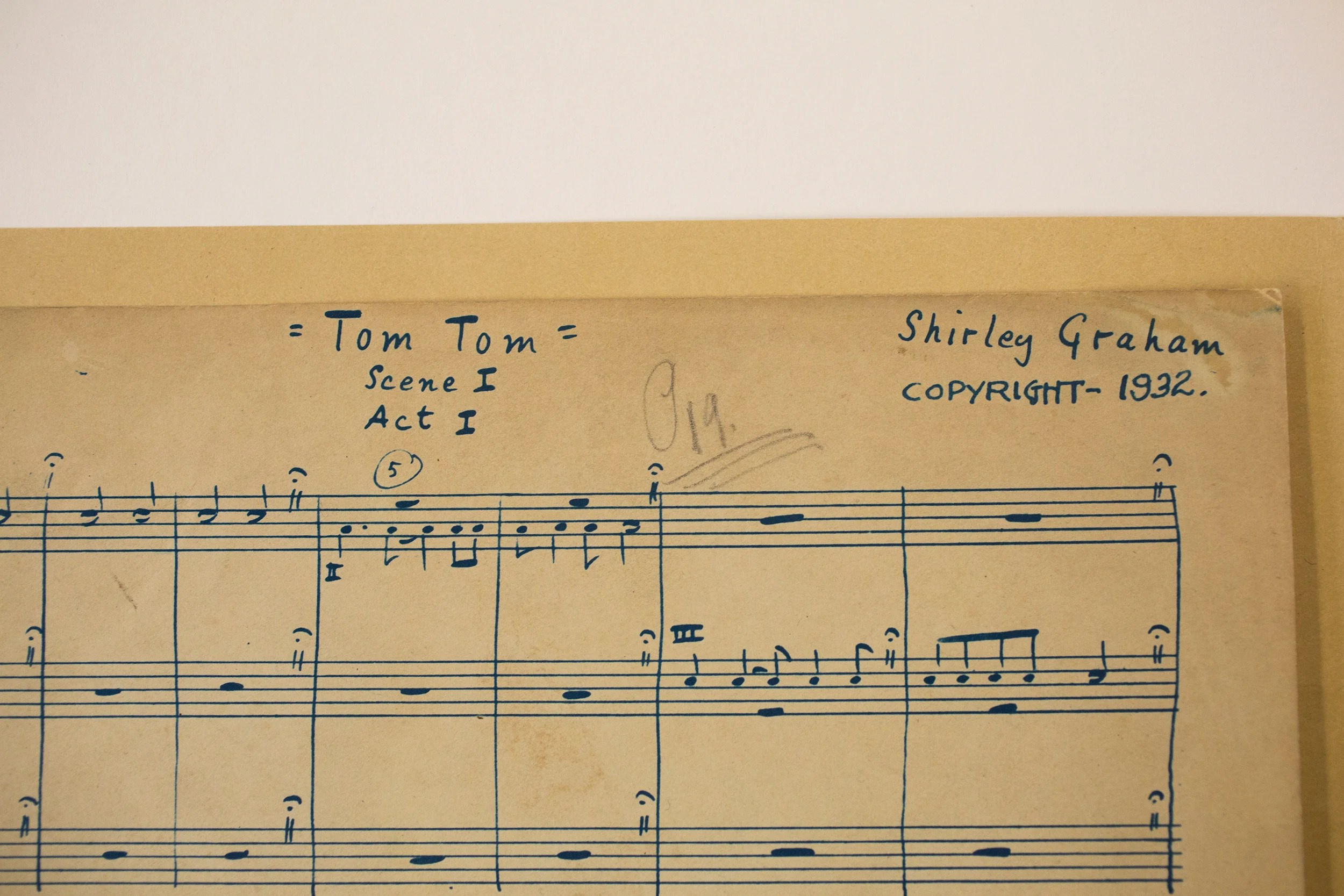 Among the finds at the Schlesinger Library was music composed by Graham and rediscovered by Lucy Caplan '12, who was seeking a topic for her College essay. Stephanie Mitchell/Harvard Staff Photographer