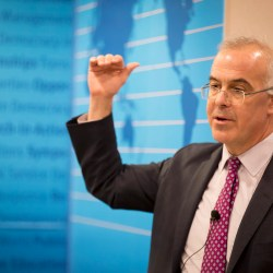 Harvard's Ash Center hosted a talk by New York Times columnist David Brooks