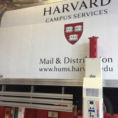 Side guards on Harvard truck