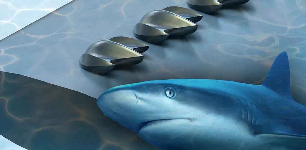 In aerodynamic performance, sharkskin model offers more lift, less drag
