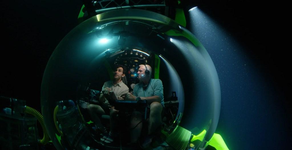 David Gruber in a submarine off Brazil.