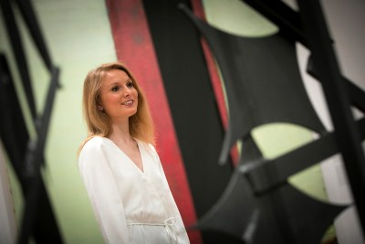 """""""I'm one of the fortunate undergraduates who were freshmen when the Harvard Art Museums reopened after their renovation,"""" says Marshall Scholar Elizabeth Keto '18."""