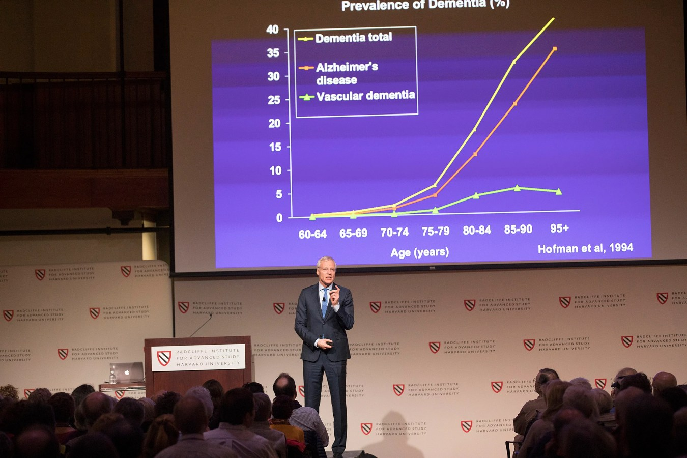 For those fortunate enough to live into their 90s, a growing likelihood for more people around the globe, there is a staggering 1-in-2 chance of contracting Alzheimer's disease.  Kris Snibbe/Harvard Staff Photographer