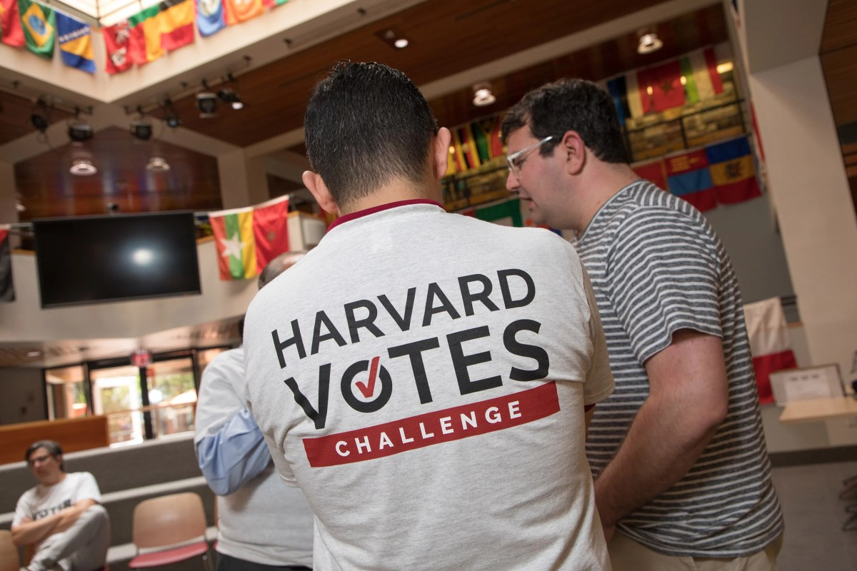 Harvard Votes Challenge event