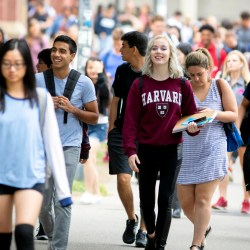 Harvard students sample courses during first-week frenzy